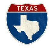 Карта дорожного знака Техаса Стоковая Фотография