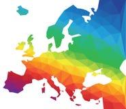 Карта Европы вектора полигона Стоковое фото RF