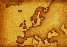 карта европы Стоковое Изображение