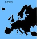 карта европы Стоковое Фото