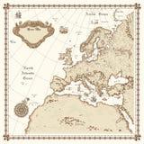 карта европы Стоковая Фотография RF