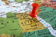 карта Египета Стоковая Фотография