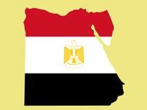 карта Египета иллюстрация штока