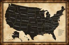 карта заявляет США Стоковое Фото