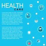 Карта здравоохранения шаблона иллюстрация штока