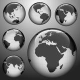карта земли глянцеватая Стоковое Изображение RF