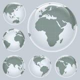 карта земли глянцеватая Стоковое Изображение