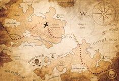 Карта земли фантазии Стоковая Фотография RF