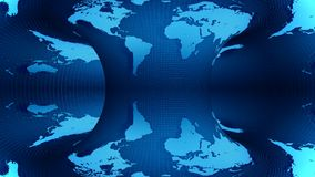 Карта земли вращанная на голубой предпосылке иллюстрация вектора