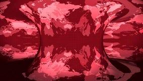 Карта земли вращанная на красной предпосылке иллюстрация штока