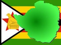 карта Зимбабве Стоковое Изображение RF