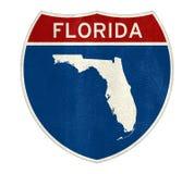 Карта знака Флориды Стоковые Фото