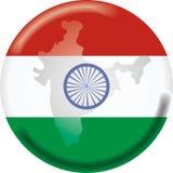 карта Индии флага Стоковые Изображения