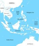 карта Индонесии Стоковое Изображение