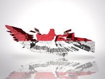 карта Индонесии иллюстрация вектора