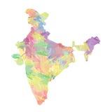 карта Индии Влияние кисти Стоковое Изображение