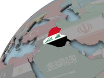 карта Ирака флага Стоковые Изображения RF