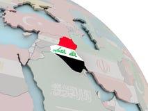 карта Ирака флага Стоковые Фотографии RF