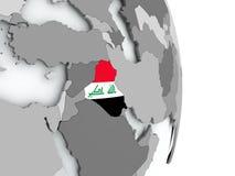 карта Ирака флага Стоковая Фотография