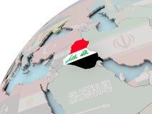 карта Ирака флага Стоковые Фото