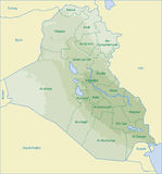 карта Ирака Стоковые Фото
