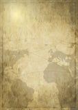 Карта искусства предпосылки старая Стоковая Фотография