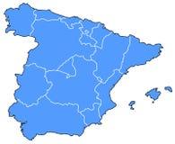 карта Испания Стоковые Изображения