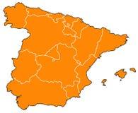 карта Испания Стоковые Фото