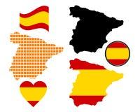 карта Испания Стоковое Фото