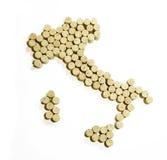 карта Италии Стоковые Изображения RF