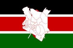 Карта и флаг Кении