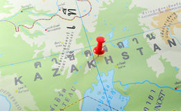 Карта Казахстана стоковые фото