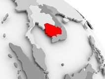 карта Камбоджи Стоковое Фото