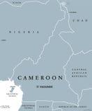 Карта Камеруна политическая иллюстрация вектора