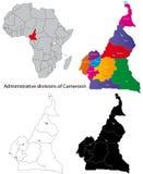 карта Камеруна Стоковые Изображения RF