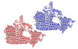 Карта Канады - иллюстрации вектора Стоковые Изображения RF