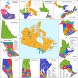 Карта Канады Стоковая Фотография