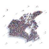 Карта Канада формы группы людей Стоковая Фотография