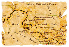 карта каньона грандиозная старая Стоковые Фото