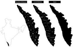 карта Кералы Стоковая Фотография RF