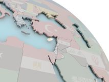 Карта Кипра с флагом Стоковые Изображения RF