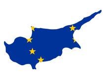 карта Кипра Стоковая Фотография