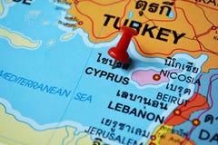 Карта Кипра стоковое изображение