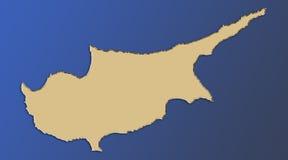 карта Кипра Стоковые Изображения