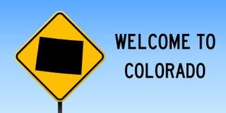 Карта Колорадо на дорожном знаке бесплатная иллюстрация