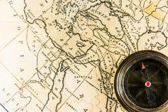 карта компаса старая Стоковые Изображения