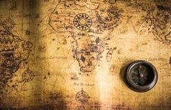 карта компаса старая Стоковое Изображение RF