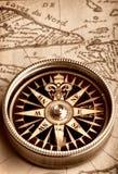 карта компаса старая Стоковое Изображение