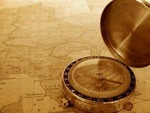 карта компаса Стоковая Фотография