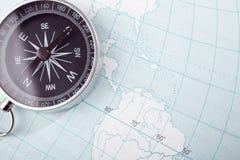 карта компаса Стоковые Фотографии RF